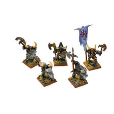 WARRIORS OF CHAOS 5 classic chaos warriors METAL Nurgle #1 PAINTED Fantasy METAL