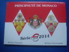 Monaco 2014 coin set  1 cents 2 euro 3,88 euro