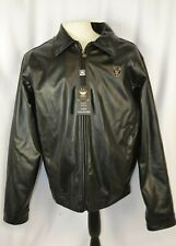 New EA Collection Italy Style Men's Leather Jacket Size XL Full Zip Casual Cool