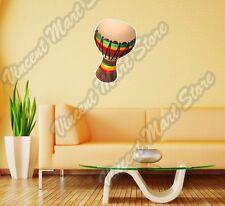 "Bongo Folk Percussion Rasta Jamaica Wall Sticker Room Interior Decor 16""X25"""