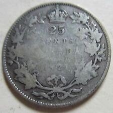 1921 Canada Silver Quarter. KEY DATE (Twenty-Five Cents) (Q626)