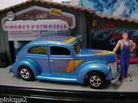 2012 Classic Machines Hot Ones FAT FENDERED '40 Ford☆BLUE☆~Hot Wheels LOOSE