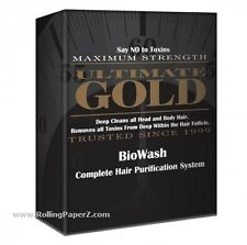 Ultimate Gold BioWash Triple Action Shampoo Body Hair Detox Purification System