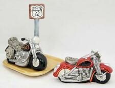 Salt & Pepper Shaker...Route 66...Motorcycle...new in box