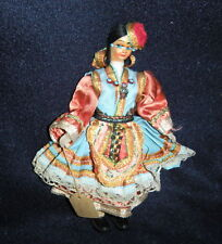 "Vintage Traditional Doll 7"" Tall Handmade From Thassos Greece"