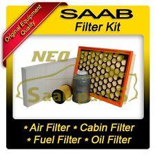 SAAB 9-3 08-10 1.9 TTiD FILTER SERVICE KIT, AIR OIL FUEL CABIN/POLLEN FILTER