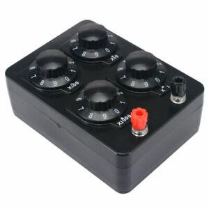 J2362 Präzisions variabler Widerstand Dekade Box Kasten 0-9999Ohm Lehrinstrument