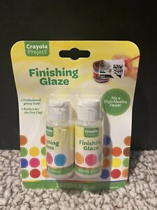 NEW~CRAYOLA Project Glossy Finishing Glaze~Goes W/ Air-Dry Clay & Project Paint