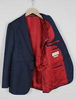 SuitSupply Sienna Pure Wool Homme 8 Ou ~ Petit Bleu Habillé Blazer 34262-GS