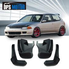 Front Rear 4PC Splash Mud Guards Flaps For 1992-1995 Honda Civic EG 3D Hatchback