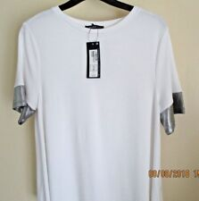 Marks & Spencer Ivory Top With Silver Trim Size 12