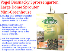 A VOGEL Biosnacky Sprossengarten Large Dome seed Germinator Sprouter Greenhouse
