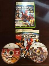 Marvel: Ultimate Alliance/Forza Motorsport 2 ( Xbox 360, 2007) - COMPLETE