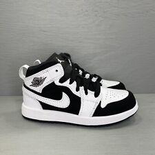 Nike Air Jordan 1 Mid PS (Tuxedo) 640734-113 Size 11c White Black New Box No Lid