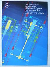 Prospekt Mercedes - Die elektronisch-automat. Fahrdynamik-Systeme,12.1986, 10 S.