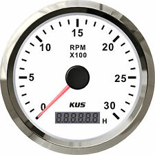 85mm White KUS Tachometer 0-3000rpm for gasoline engine CMHB-BS-3KL (SV-KY07116)