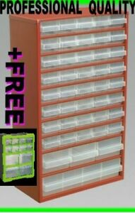 Cabinet Box Steel Frame Drawer Workshop Storage Bins Drawer unit Plus Free Unit