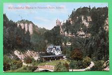Sachsen AK Waltersdorfer Mühle Polenztal 1910-20 Gasthaus Straße Brücke Haus S11