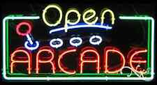"New ""Open Arcade"" 37x20x3 Border Real Neon Sign W/Custom Options 15449"