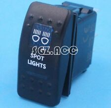 Spot Lights Rocker Switch Carling ARB Narva Style Blue LED Heaps of Designs 4wd
