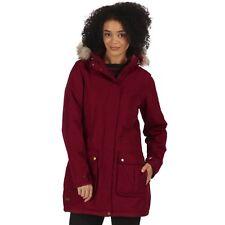 Regatta Womens Schima II Waterproof Insulated Coat 18 Dark Pimento Rwp238 68d18l