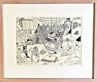 "RED GROOMS Pencil SIGNED Original SERIGRAPH Limited Edition ""44/300"" FRAMED 1973"