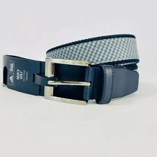 Adidas Adi Canvas Golf Belt Carbon Black Adjustable Web And Leather Mens Osfm
