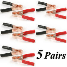 10X -YP Red/Black Car Battery Test Lead Clip Crocodile Alligator Clamps 50A 80mm