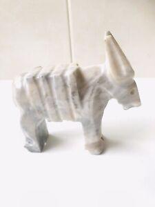 Vintage Onyx Marble Donkey Figurine - 1950's
