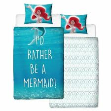 DISNEY PRINCESS ARIEL LITTLE MERMAID SHELLFIE SINGLE DUVET COVER SET REVERSIBLE
