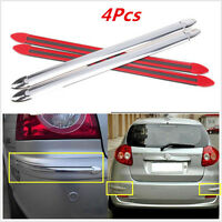 4x SILVER Car SUV Body Bumper Scratches Cover Anti-rub Exterior Strips