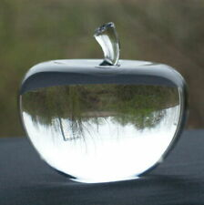 Clear Glass Crystal 3D Apple Paperweight Ornament