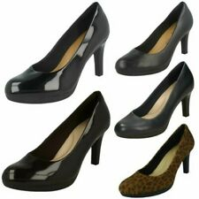 Ladies Clarks Adriel Viola Heeled Court Shoes