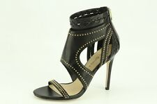 $295 NEW Via Spiga Taletha Black Leather Pumps sz 36 / 6 D4004L1 Dress Sandals