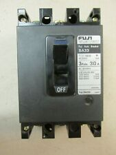 Fuji Electric Circuit Breaker 3 Pole, 30 Amp, Cat# Sa33 (Chip). Vd-05
