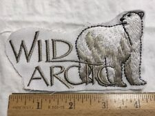 Wild Arctic Embroidered Polar Bear Patch Emblem without border
