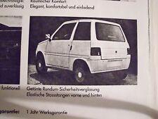 Original-Prospekt Elektro-Fahrzeug von 1990