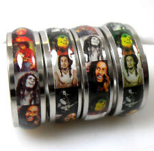 100 pieces  Bob Marley stainless steel rings Jewelry lots Wholesale