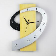 Modern 3D Wall Sticker Clock Home Office Room Time Decor Curved Design Creative