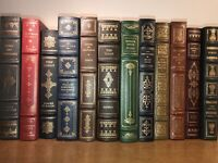 LEATHER FRANKLIN LIBRARY 12 Books Some Wear  Leatherbound easton