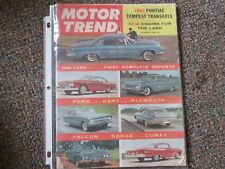 October 1960 Motor Trend..Ford,Dart,Plymouth,Falcon,Dodge,Comet,Pontiac Tempest.