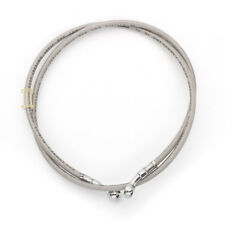 Motorcycle Brake Oil Hose Line Pipe Tube Braided Silver Universal 45cm Stainless