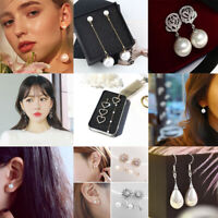 Charming Women Girls Sweet Pearl Stud Earrings Elegant Cute Pearl Earring Gifts