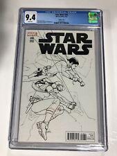 STAR WARS 18 CGC 9.4 Sketch Cover 1:100 Variant Marvel Comics!