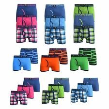 Mens Boxers Crosshatch Shorts various 2PK and 3PK Trunks Underwear Gift Set