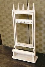 Espositore multiplo per bigiotteria in legno bianco 36 x 13 x h 70  etnico