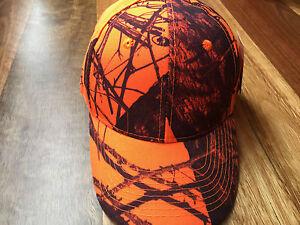 Mossy Oak Camo Blaze Orange Cap - Hunting