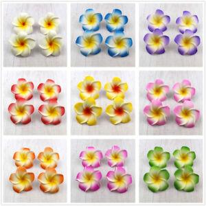 10/30Pcs 10 Color 5cm Floating Frangipani Plumeria Hawaiian Flower Heads Wedding