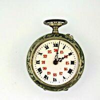 Antique Silver Tone Pocket Watch Parts Steampunk