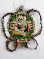 Antique Victorian Vintage Die-Cut Religious Christmas Piece for Scrap Ornament *